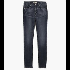 """Madewell 9"""" Mid-Rise Gray Skinny Jeans 31 NWT"""